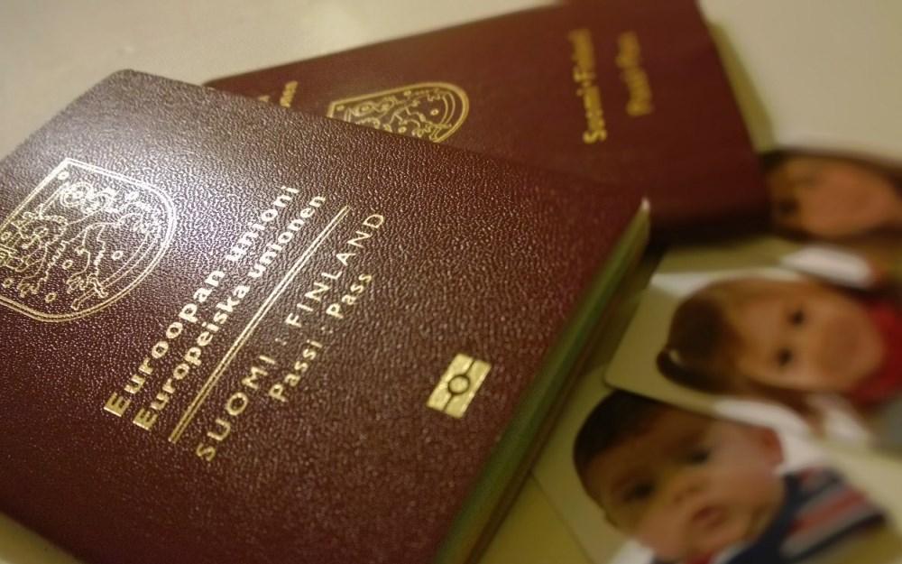 Passin hakeminen lapselle, vauvalle