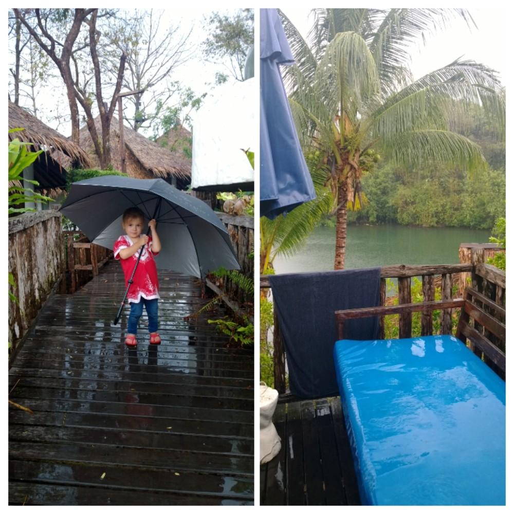 Koh Changilla sadekuurot ovat normaaleja, mutta ilmastonmuutos on lisännyt niitä.