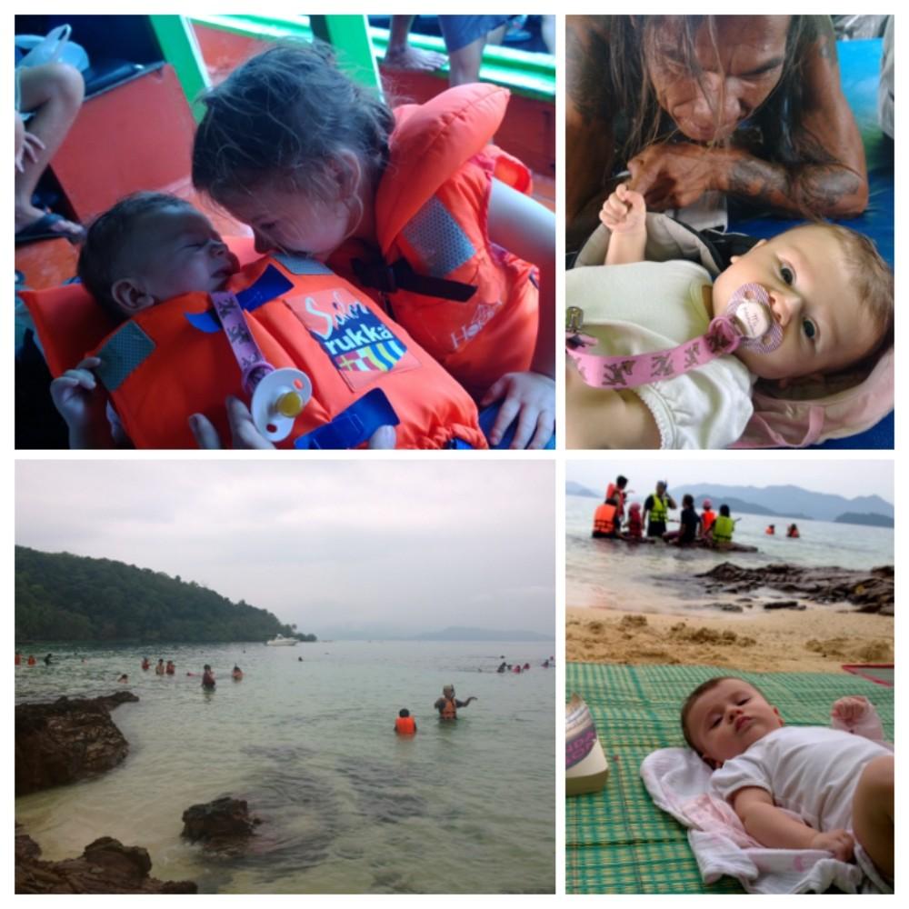 Retki Koh Wajn saarelle oli pettymys, mutta venematkalla vauva sai poppamiehestä kaverin.