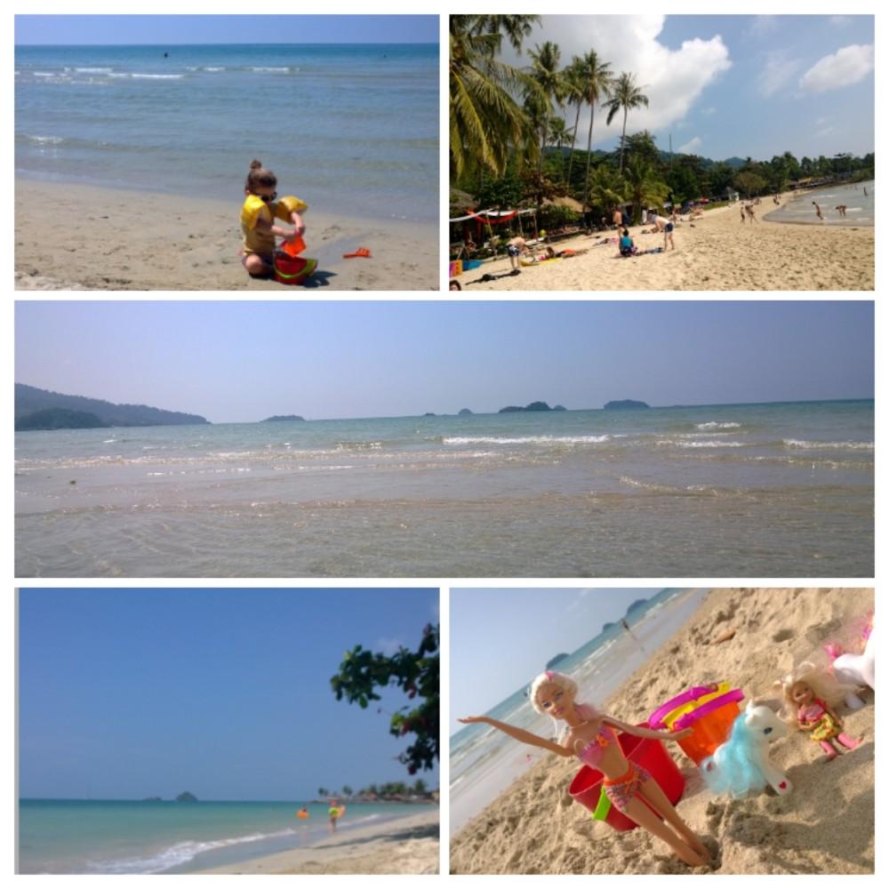 Koh Changin länsipuoli on täynnä toinen toistaan upeampia rantoja.