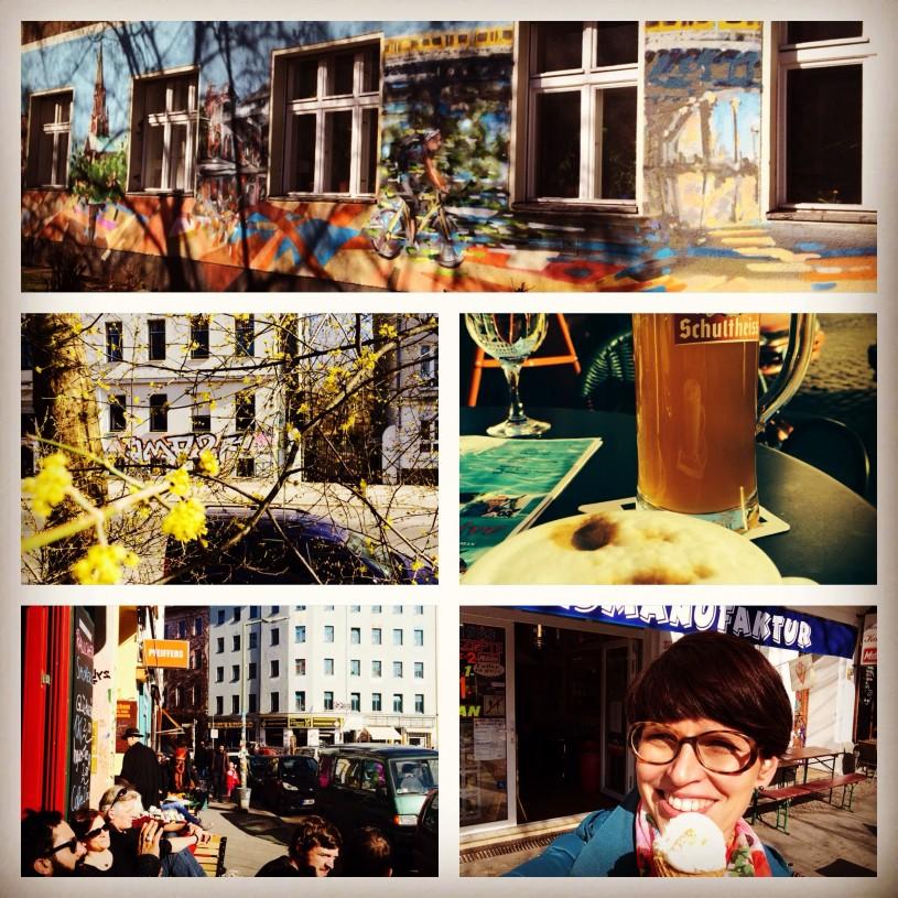 Keväinen päivä Berliinin Kreuzbergissä sopii myös lasten kanssa seikkailuun