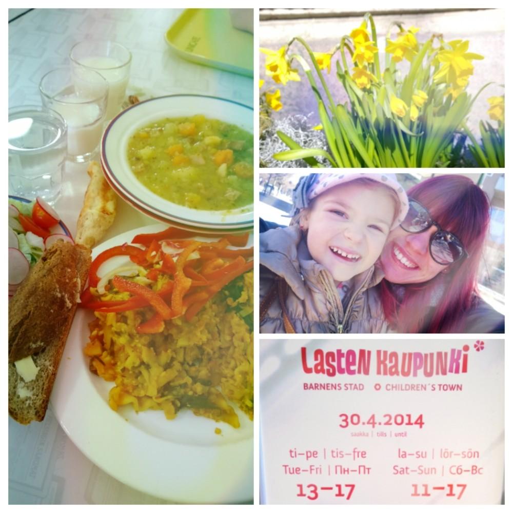 Perheemme tyttöjen retken kruunasi kevätaurinko ja huokea lounas Unicafessa - kaiken tämän sai 12 eurolla.