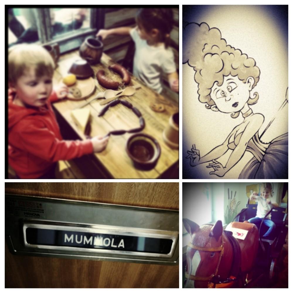 Lasten Kaupungissa voi muun muassa leikkiä suutarin talossa vuosisatojen takaa, ajaa hevosvankkureita, pukeutua prinsessaksi ja mennä käymään 70-luvun mummolaan.