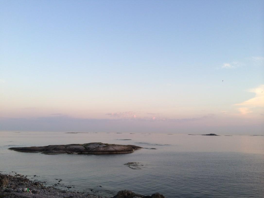 Maisema luotsituvalta avomerelle