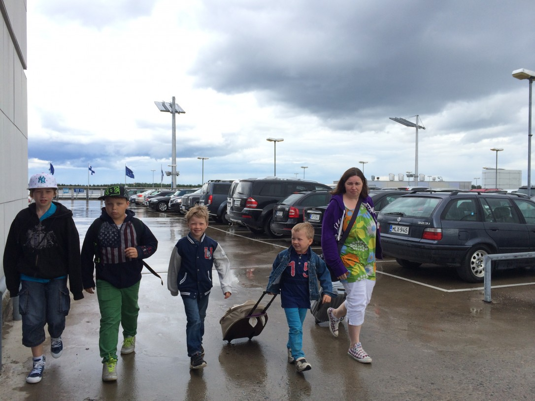 Lähtiessämme Suomesta oli keli sateinen, joten Tanskan hyvä ilma oli kivaa bonusta reissuumme