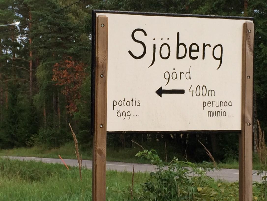 Hanko Sjöberg kyltti
