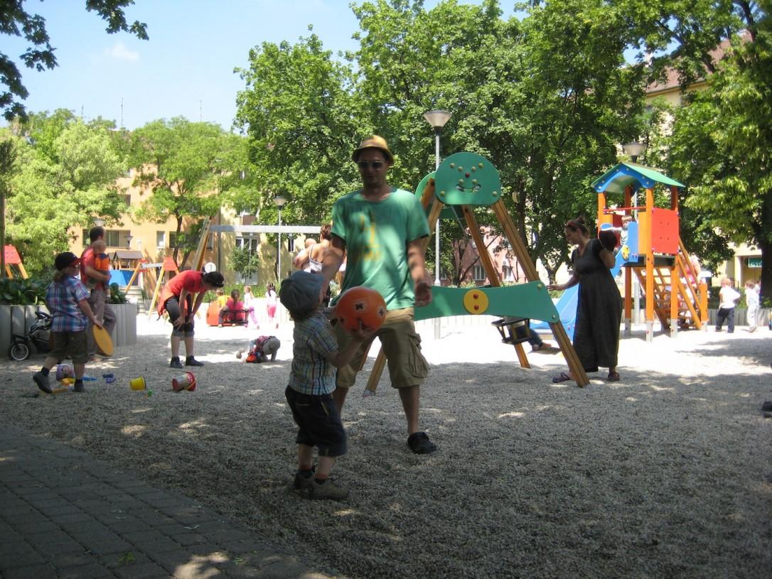 Leikkipuistot ovat Unkarissa hyvin varustettuja ja hauskasti rakennettuja.