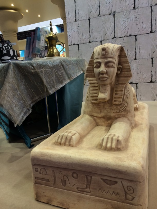 Egyptin osastolla pääsi virittäytymään tunnelmaan.