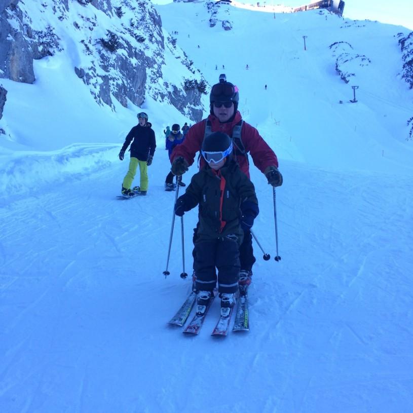 Omat sauvat olivat hyvät Garmisch-Classicin siirtymäreiteillä