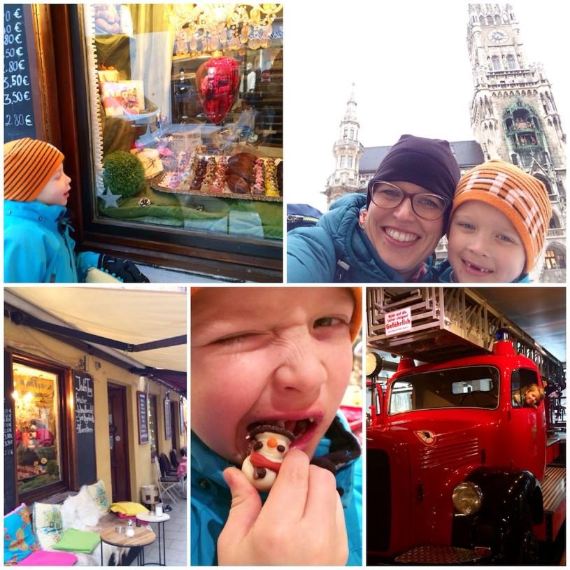 Münchenissä vietimme täydellisen äiti-poika päivän.