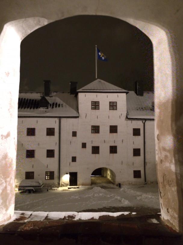 Turun linna oli maaginen paikka illalla.