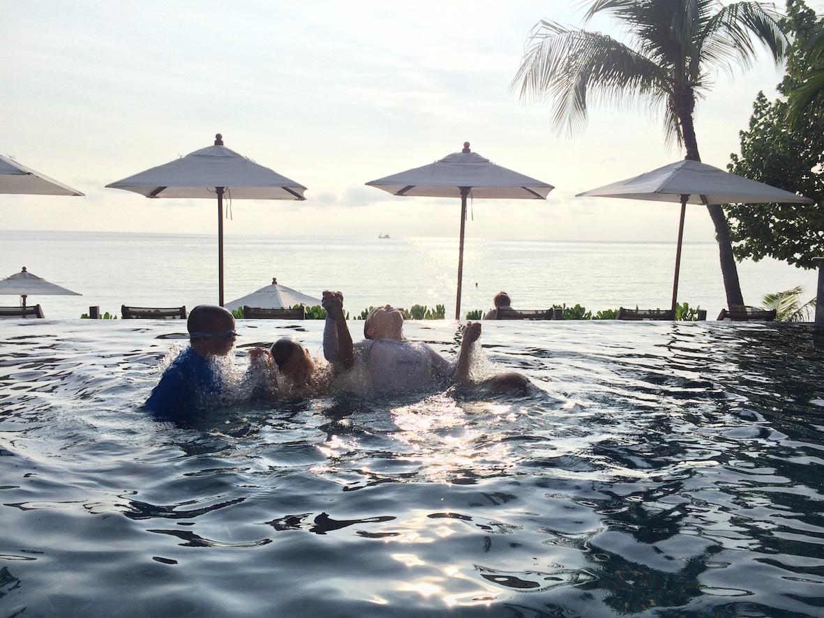 Ao Prao hotellin infinity pool oil median kaikkien mielestä ihana.