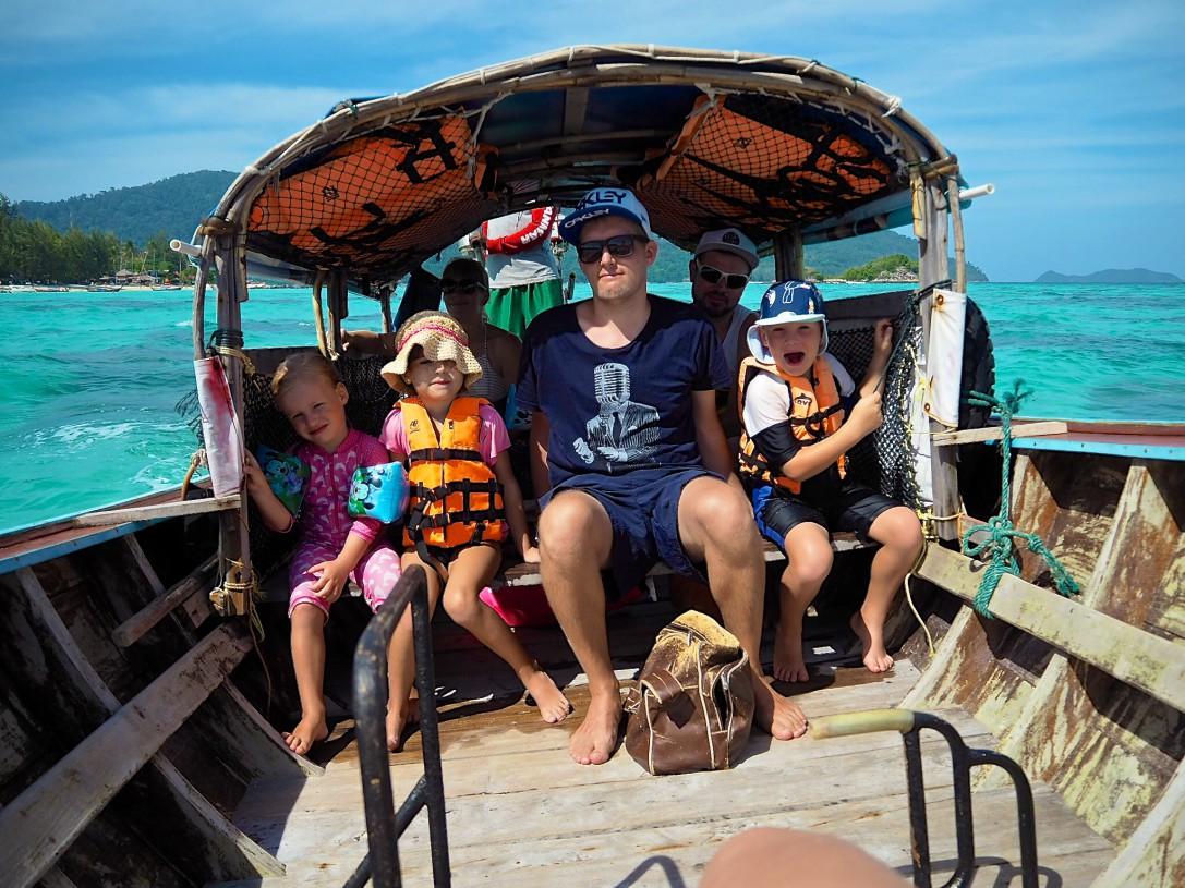 On the boat Koh Lipe